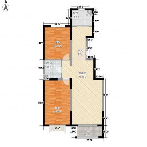 颐景阁2室1厅1卫1厨112.00㎡户型图