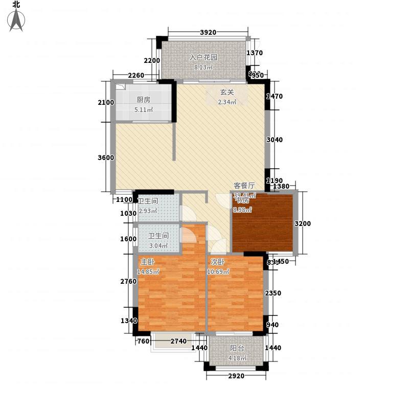 凤达滨河豪园1314128.25㎡13#14#楼02、03、04、05户型3室2厅2卫1厨