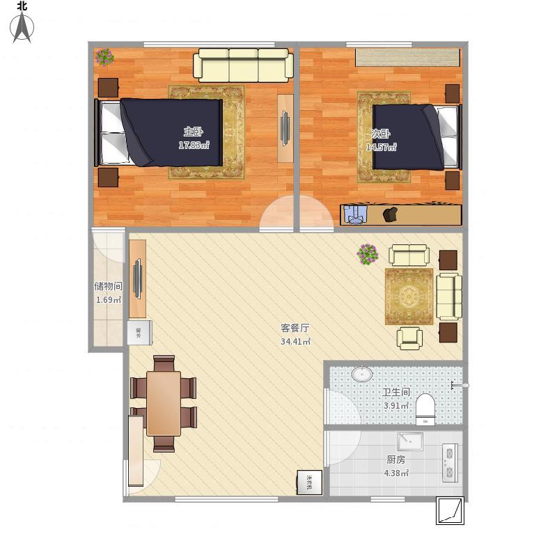 80方两室两厅