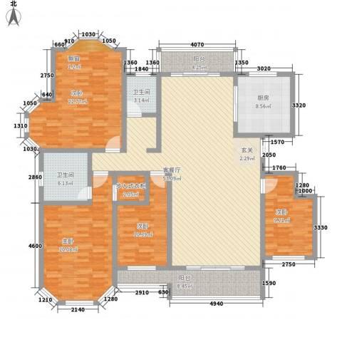 绅派金湖帝景4室1厅2卫1厨213.00㎡户型图