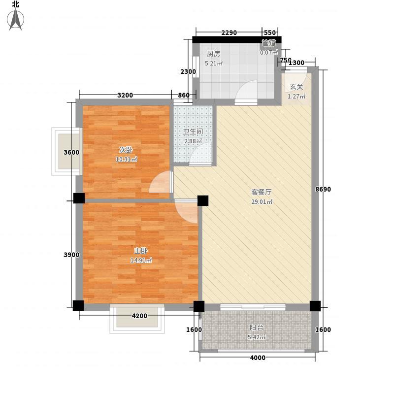 君林・金桂园88.21㎡QQ图片20140910145117户型2室2厅1卫1厨