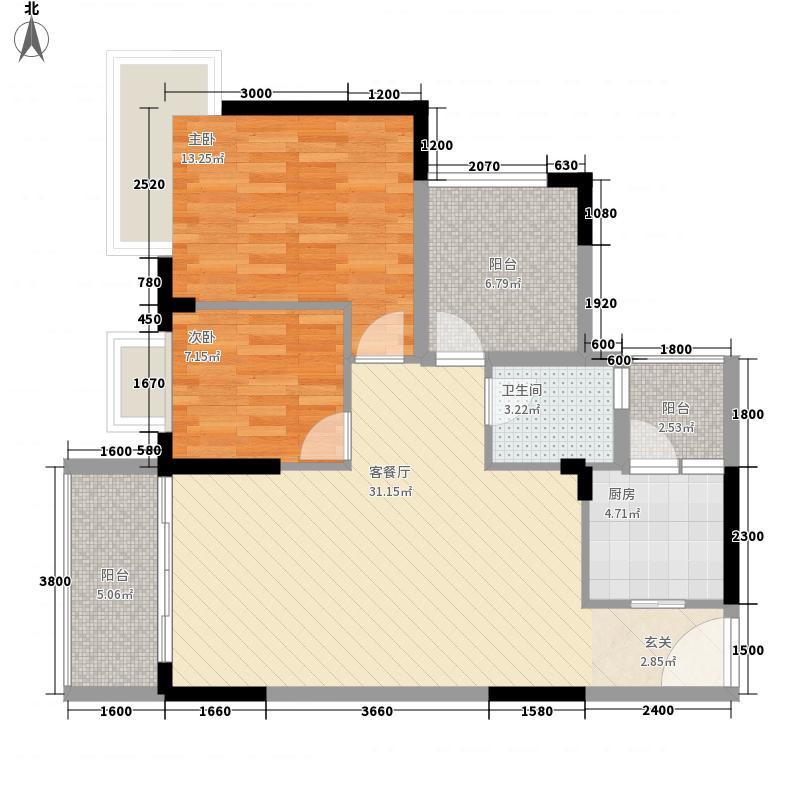 里维埃拉1.51㎡四区E户型