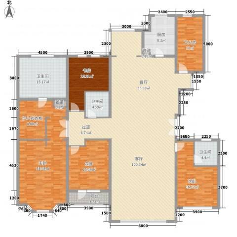 青宾5号院4室1厅3卫1厨231.06㎡户型图