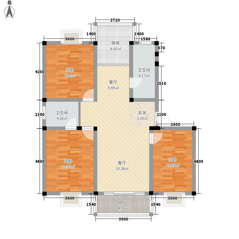 金鑫花苑121.55㎡金鑫花苑户型图户型图3室2厅2卫1厨户型3室2厅2卫1厨