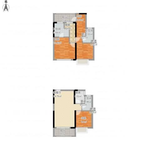 凤雅颂3室1厅3卫1厨135.00㎡户型图