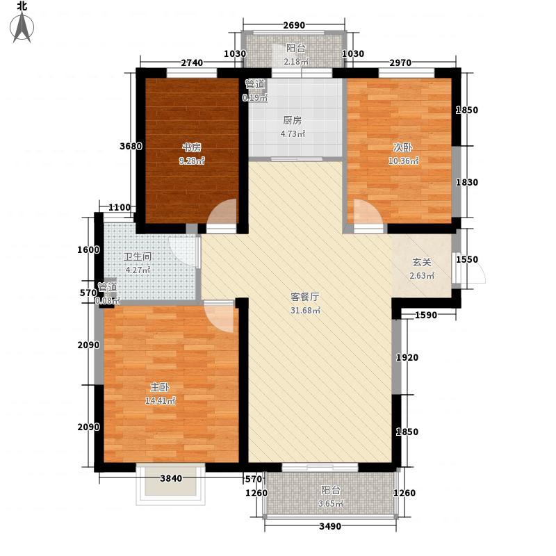锦绣园118.20㎡--内容-A户型3室2厅1卫1厨