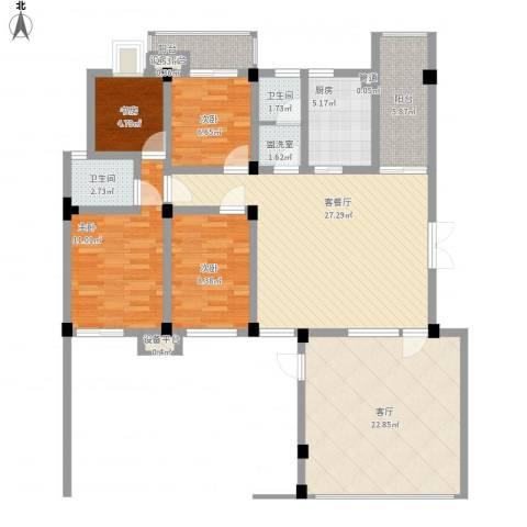 嘉城尚郡4室2厅2卫1厨148.00㎡户型图