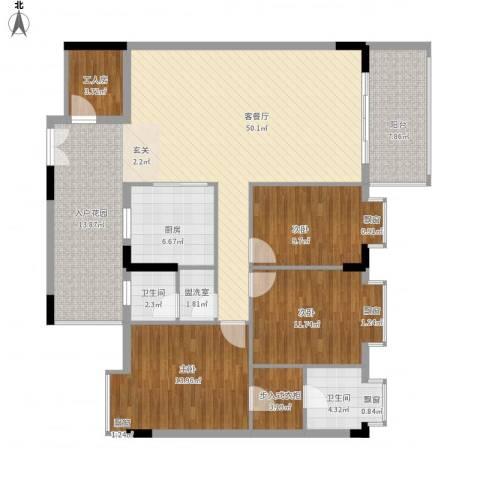 乐居苑3室2厅2卫1厨160.00㎡户型图