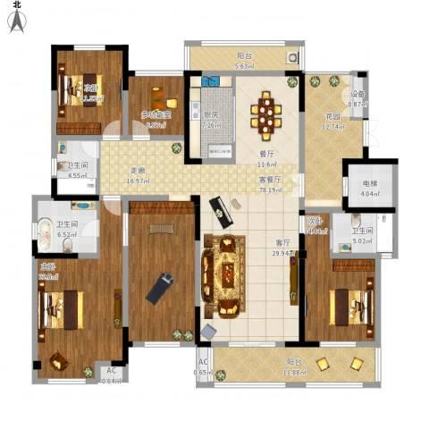 凤凰湖壹号3室1厅3卫1厨223.00㎡户型图