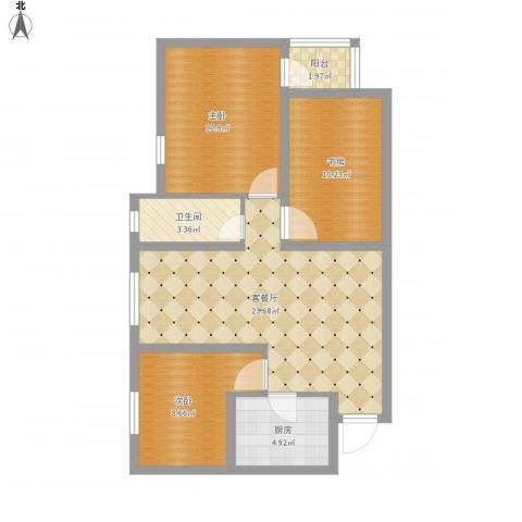 五塘和园3室1厅1卫1厨95.00㎡户型图