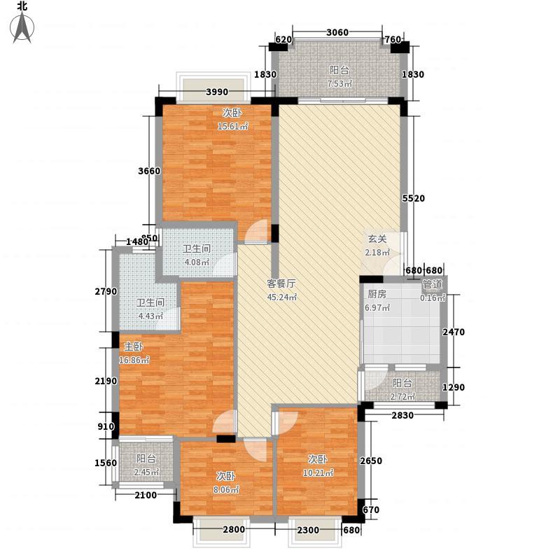 里维埃拉142.46㎡F户型4室2厅2卫