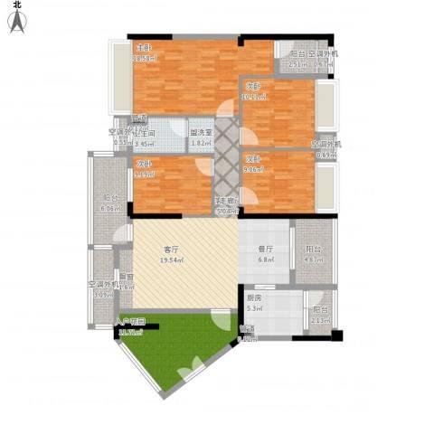 锦绣龙湾4室1厅1卫1厨177.00㎡户型图