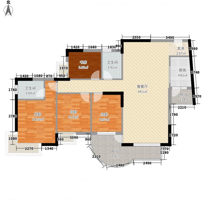 康怡丽苑151.00㎡户型4室2厅2卫1厨