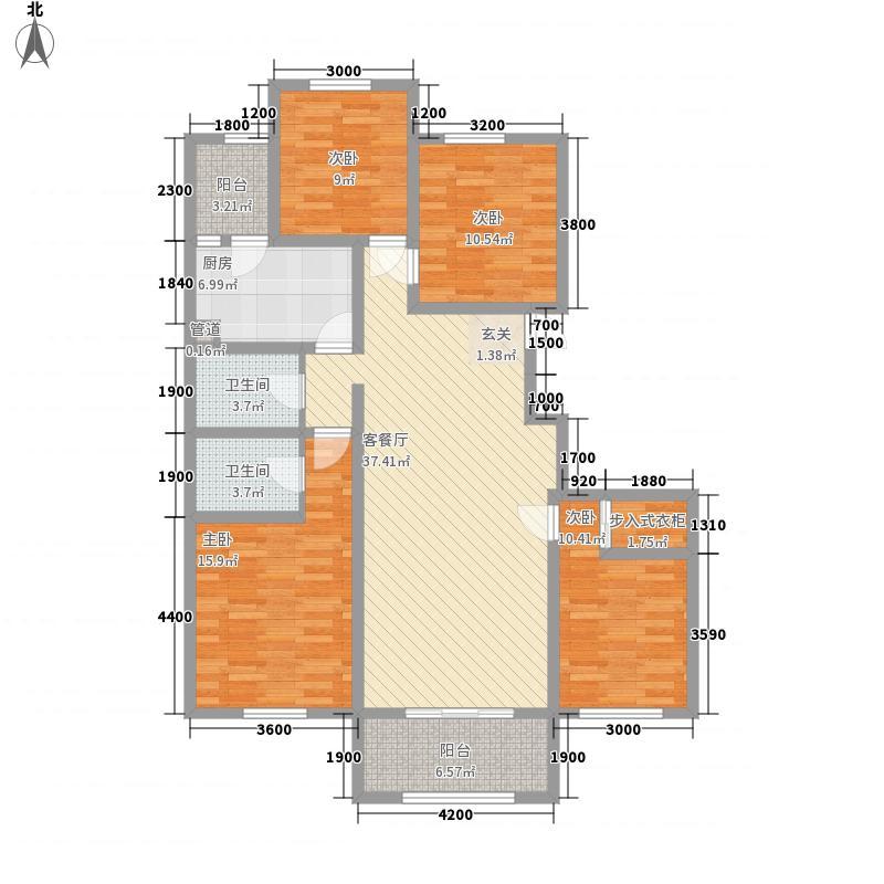 恒顺江山悦二期4143.20㎡G户型4室2厅2卫1厨