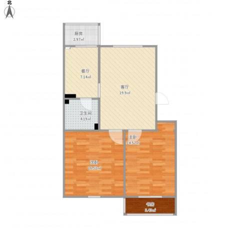 南华里3室2厅1卫1厨93.00㎡户型图