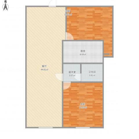 香格里拉2室2厅1卫1厨126.00㎡户型图