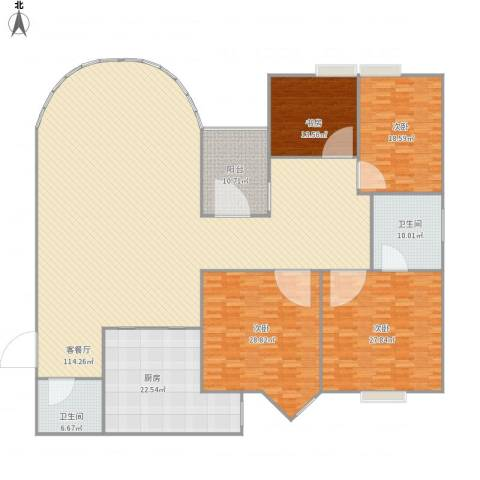 西安锦都4室1厅2卫1厨331.00㎡户型图