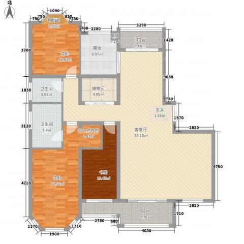 绅派金湖帝景3室1厅2卫1厨188.00㎡户型图