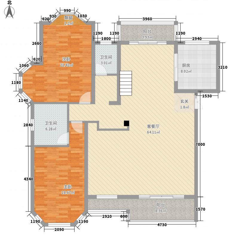 绅派金湖帝景373.00㎡东营市金湖帝景B-4下层户型7室3厅4卫1厨