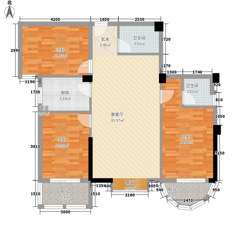 汇侨文化园112.80㎡8栋X02户型3室2厅2卫1厨