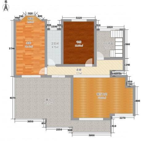 绅派金湖帝景2室0厅1卫0厨285.00㎡户型图