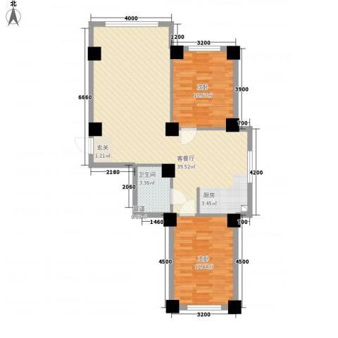 黄金水岸2室1厅1卫0厨66.02㎡户型图