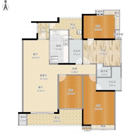保利花园二期4室2厅5卫4厨195.00㎡户型图