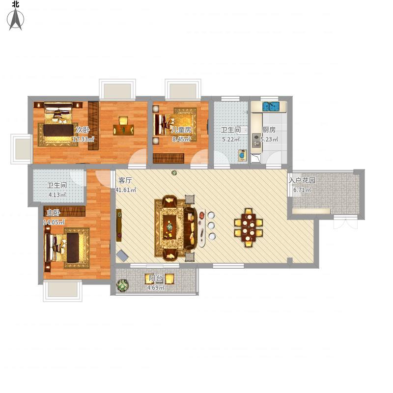 三室两厅一厨两卫138