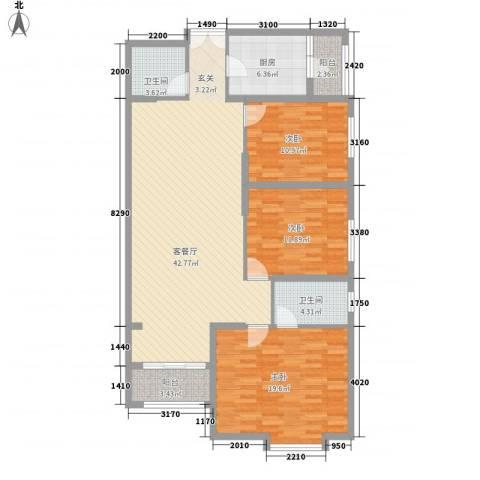 联盟新城3室1厅2卫1厨148.00㎡户型图