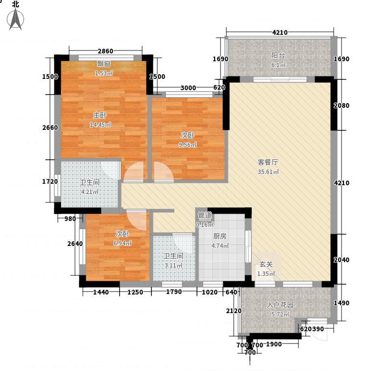 爱加西西里11.00㎡户型3室