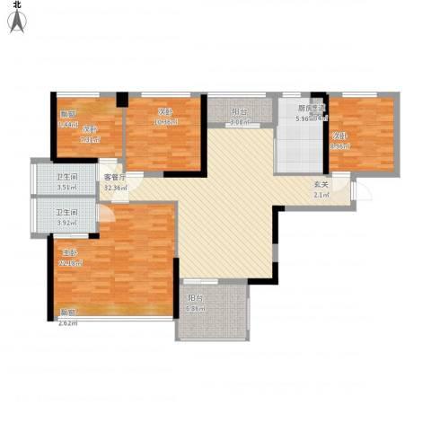 凤雅颂4室1厅2卫1厨149.00㎡户型图