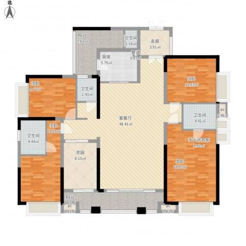 三正卧龙山一号4室1厅4卫1厨208.00㎡户型图