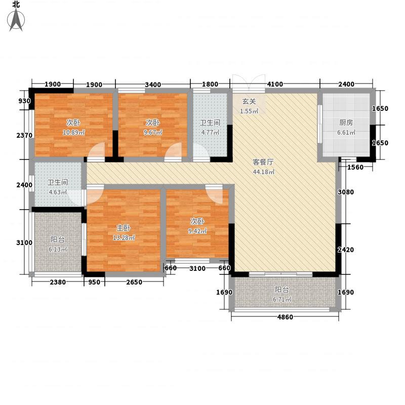 御景龙庭155.31㎡B户型4室2厅2卫1厨