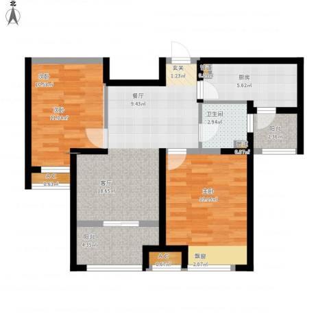 恒文星尚湾2室1厅1卫1厨84.00㎡户型图