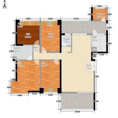 城建仁山智水花园4室1厅2卫1厨180.00㎡户型图