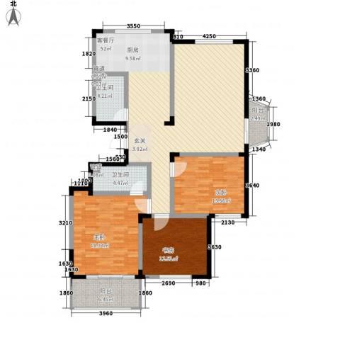 华丰居3室1厅2卫0厨162.00㎡户型图