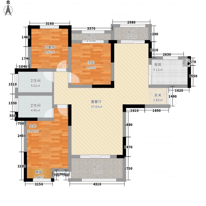 鹿港小镇137.00㎡户型3室2厅2卫1厨