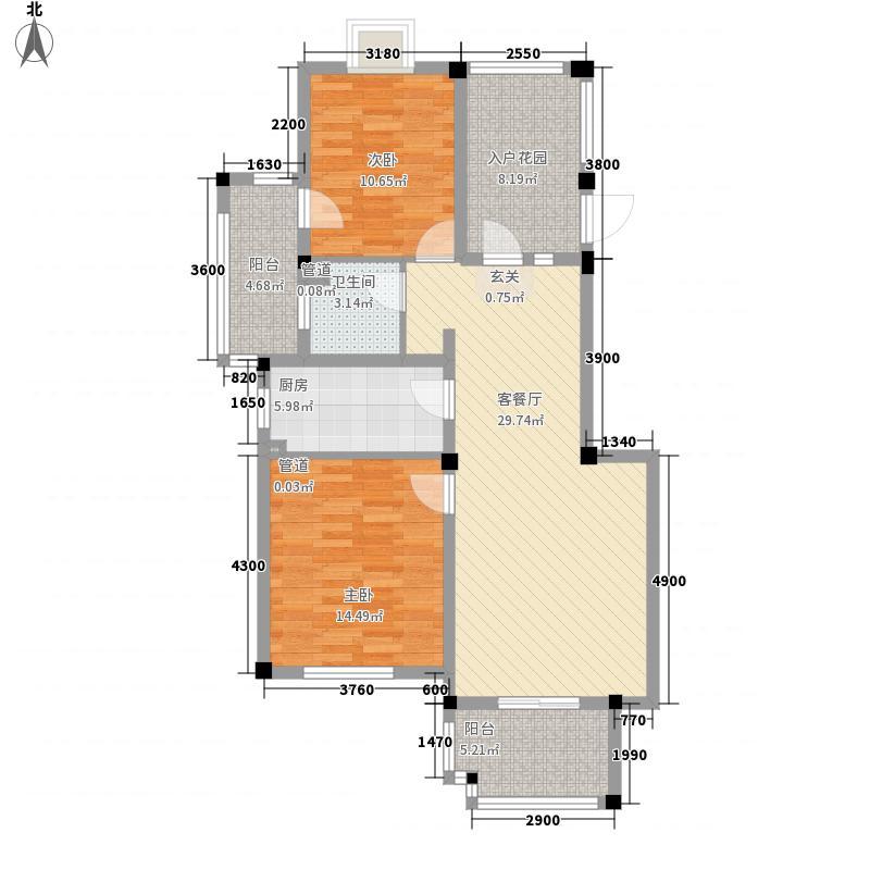永吉・凤凰城户型2室1厅1卫1厨