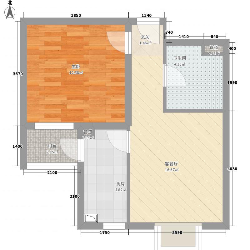 红海湾7#E-3户型1室1厅1卫1厨