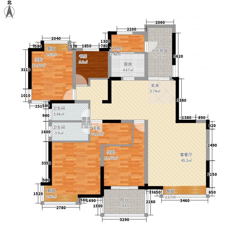 棕榈泉国际花园173.74㎡棕榈泉国际花园户型图5室2厅2卫1厨户型10室