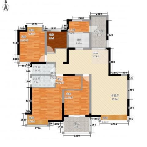 棕榈泉国际花园4室1厅2卫1厨174.00㎡户型图
