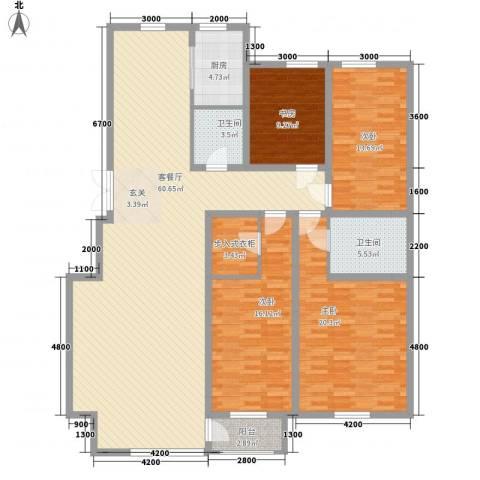 广厦新城4室1厅2卫1厨140.11㎡户型图