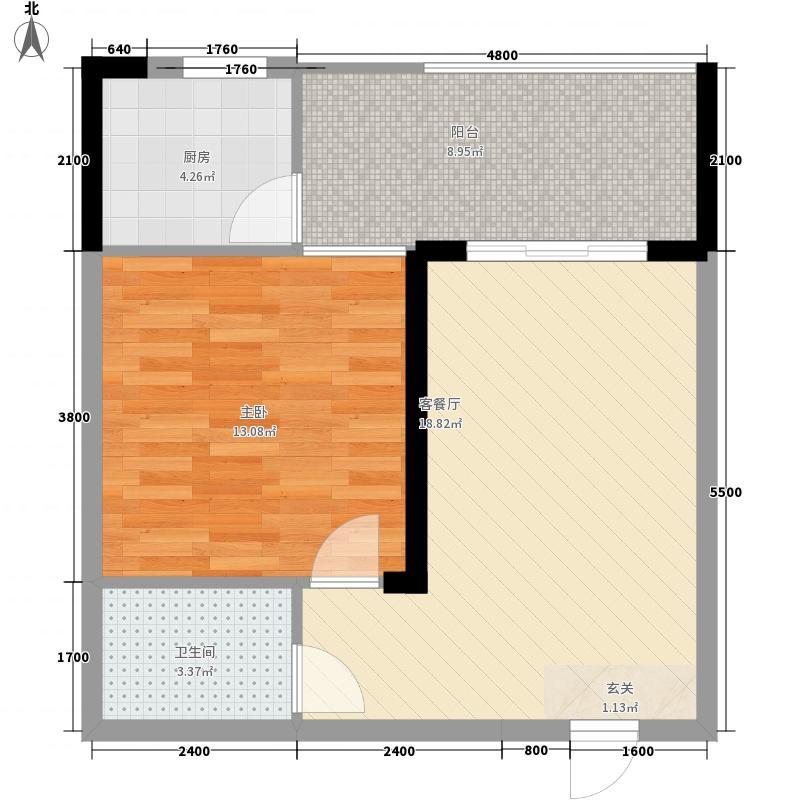 丁公桥商业广场57.40㎡B户型1室1厅1卫