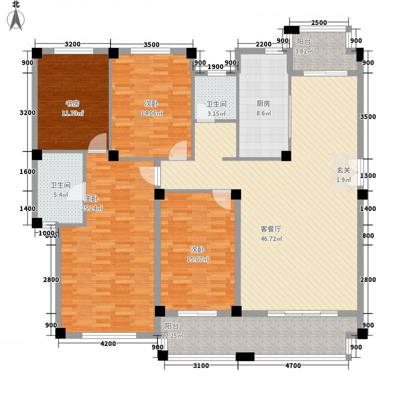 华邦・锦绣华府172.20㎡(1-4层)户型4室2厅2卫1厨