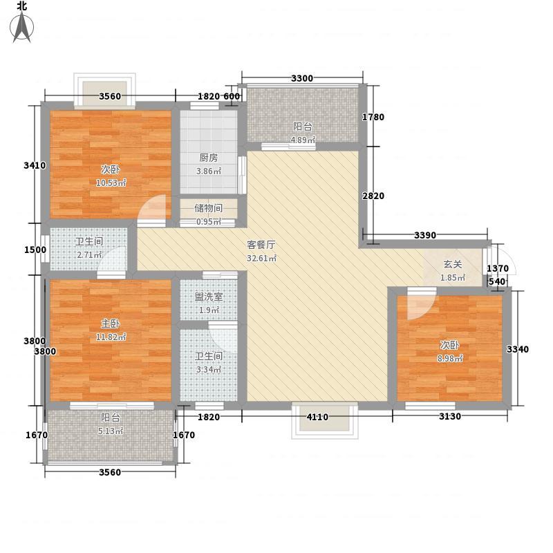 竹林广场6户型3室2厅1卫1厨