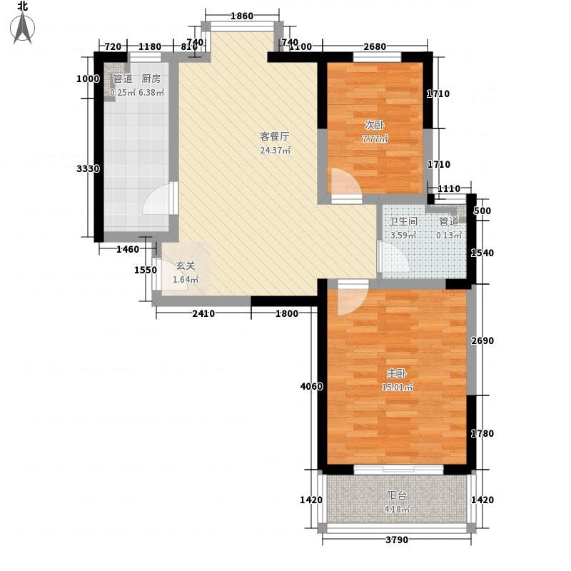 德洋国际广场8.60㎡德洋美居B户型2室2厅