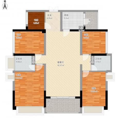合正上东国际三期5室1厅4卫2厨165.00㎡户型图