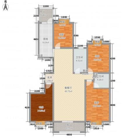 泛华盛世二期4室1厅2卫1厨151.00㎡户型图