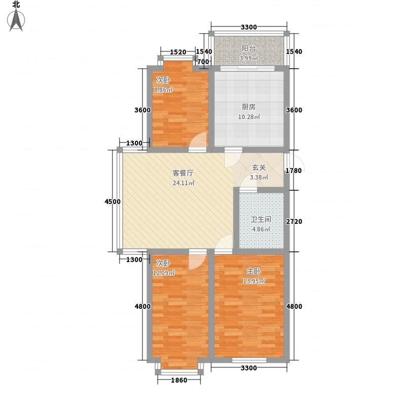 祥合林苑17.37㎡祥和林苑户型3室1厅1卫1厨