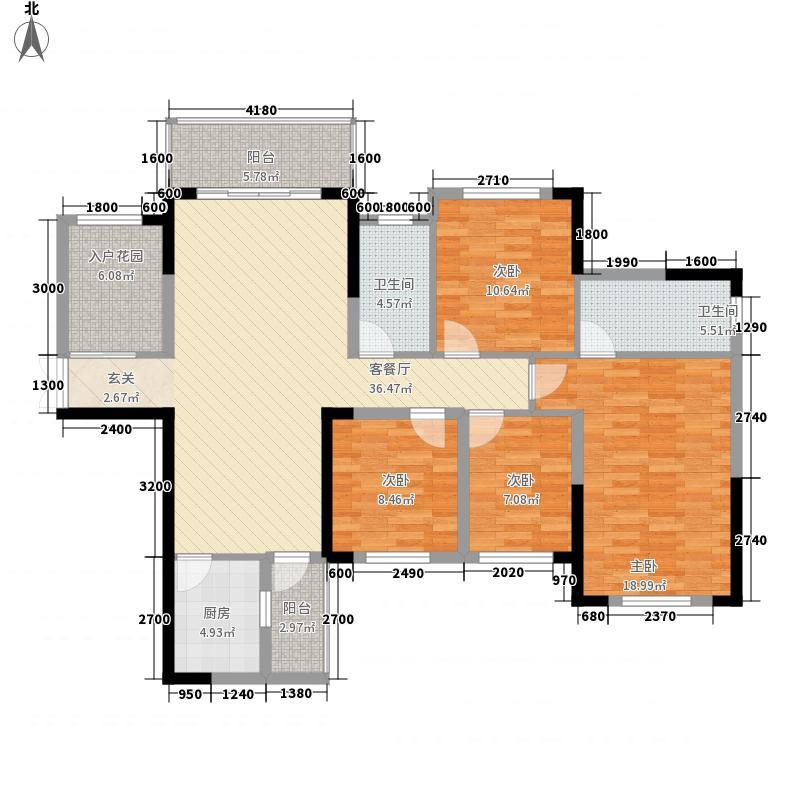 豪港华庭133212.20㎡13#3C-2户型5室2厅2卫1厨